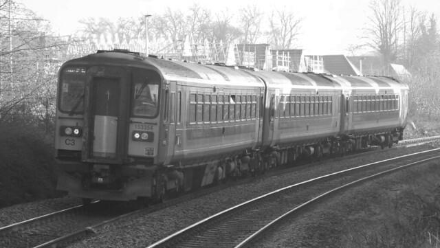 153371, 153375 + 153354, Cradley Heath, West Midlands