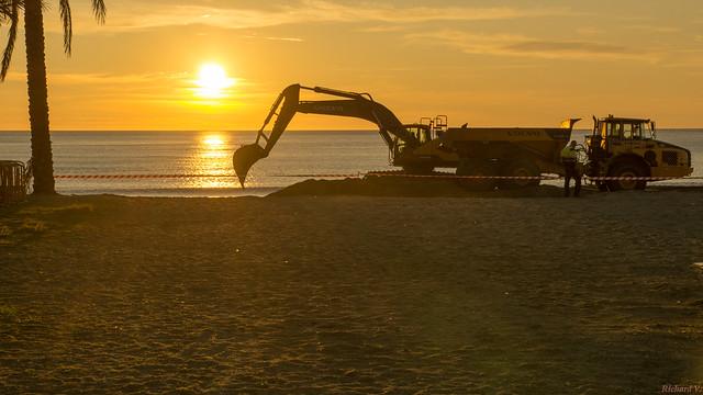 Sunrise, Lever du soleil, Espagne, Costa Del Sol, Torremolinos - 3357