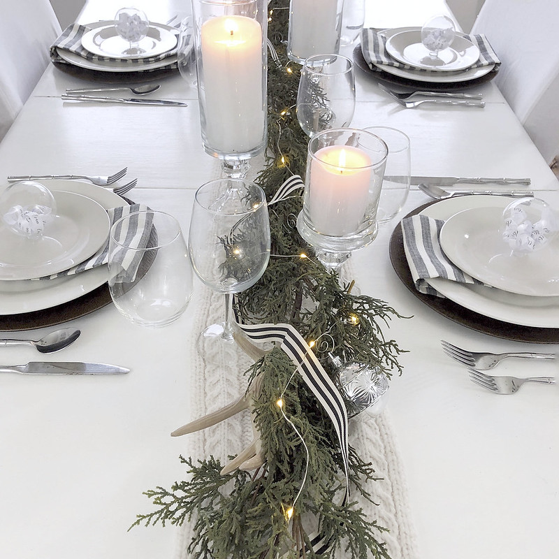 Black White Table Setting