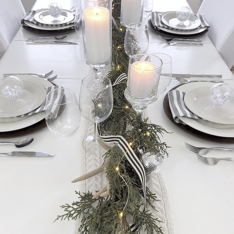Black White Table Setting