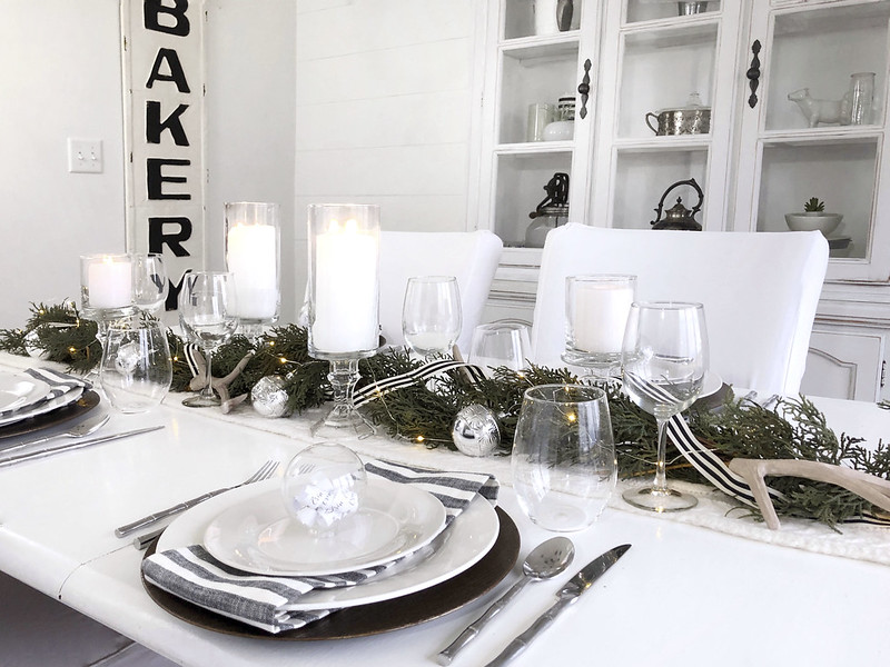 Candle Garland Tablescape