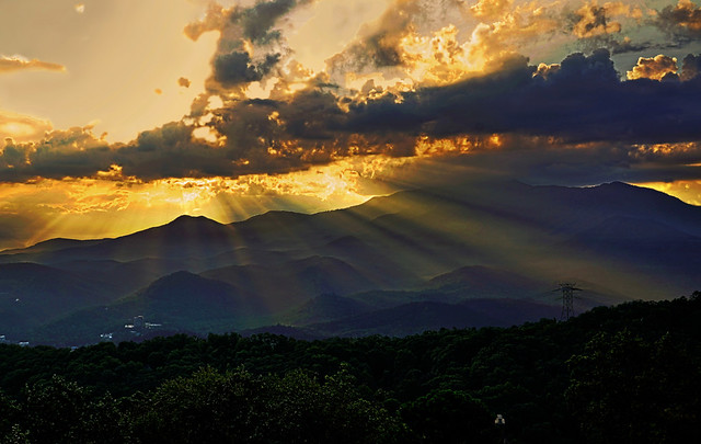 Dawn at the Smoky Mountains