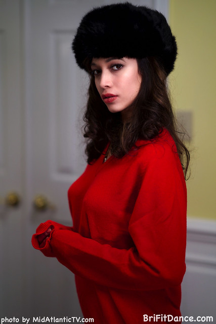 DSC07203 - Brianna-  cashmere sweater and a mink Russian hat