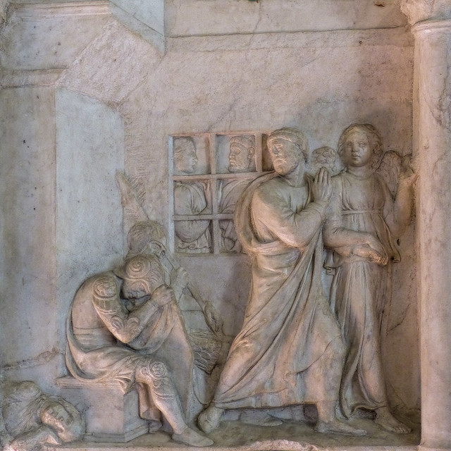Fri, 09/11/2015 - 12:17 - 'St Peter Released from Prison' (c1439) by Lucca della Robbia - Bargello Florence 11/09/2015