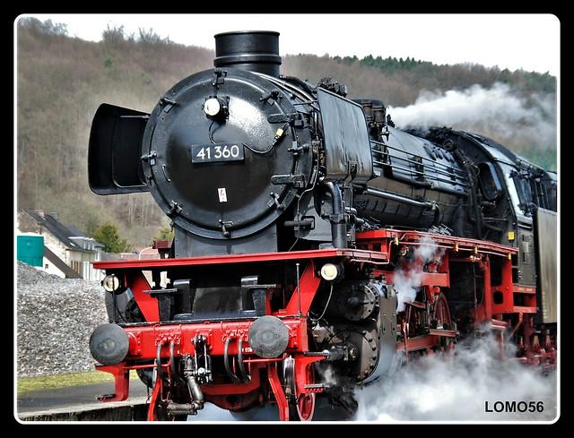 Dampflokomotive beim Bahnhof Bitburg-Erdorf