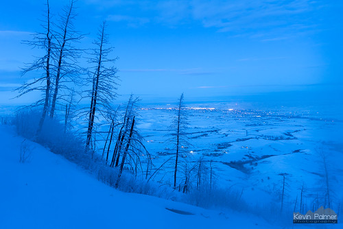 bighornmountains bighorn redgraderoad wyoming november snow snowy rimeice frosty trees nikond750 tamron2470mmf28 twilight blue clouds sheridan lights