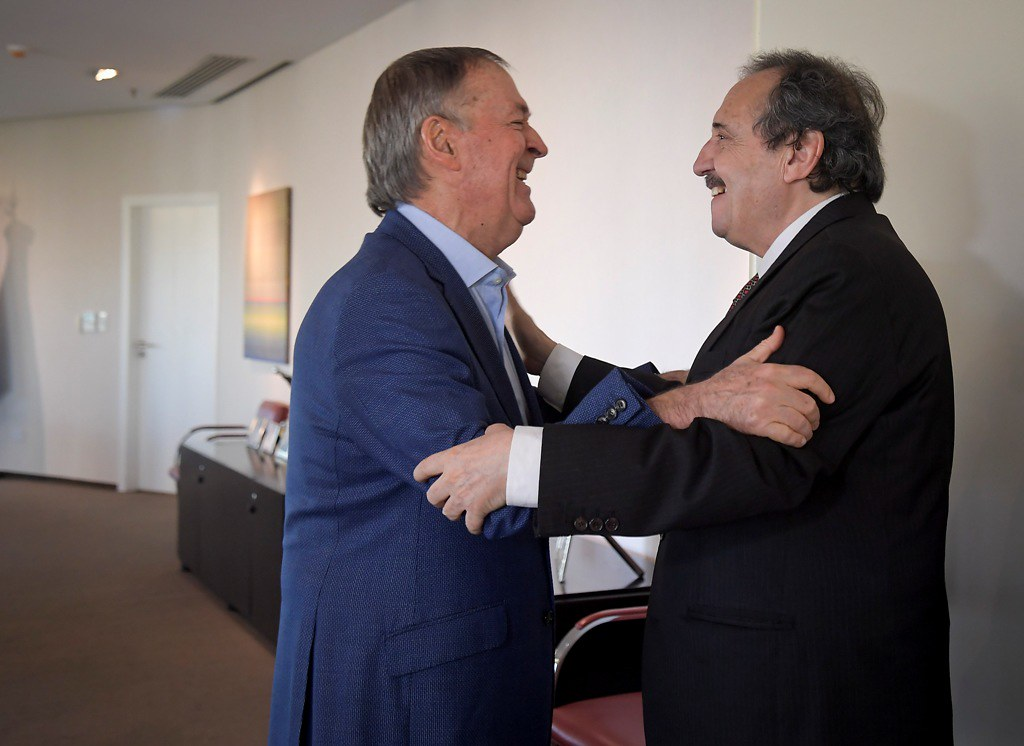 Schiaretti recibió al dirigente radical Ricardo Alfonsín