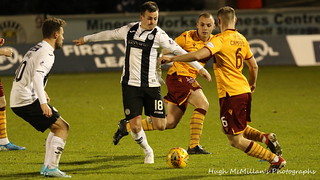 St Mirren 0 - 3 Motherwell, Scottish Premiership.
