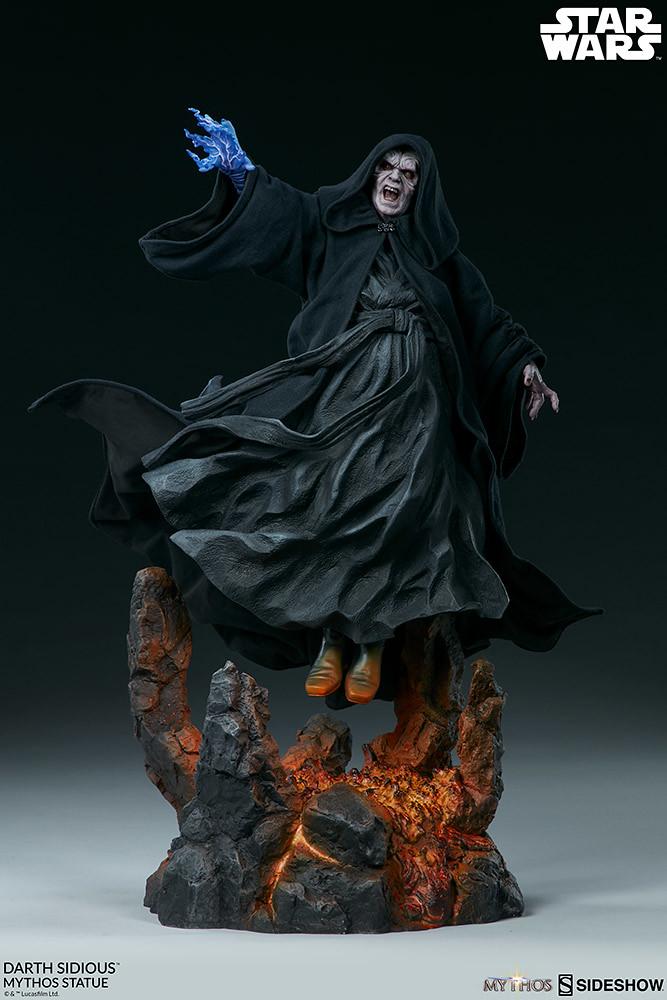 力量、謀略、狡詐樣樣兼備的大反派! Sideshow Collectibles《星際大戰》「達斯·西帝 (Darth Sidious)」- Mythos 全身雕像