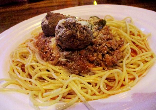 Ming Cafe Miri meatball pasta