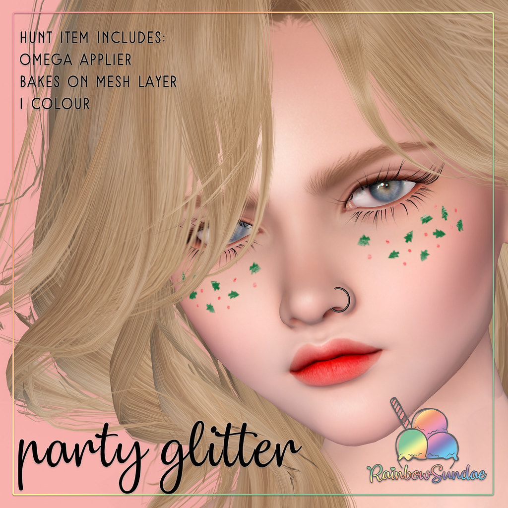 *Rainbow Sundae* Party Glitter Hunt Prize