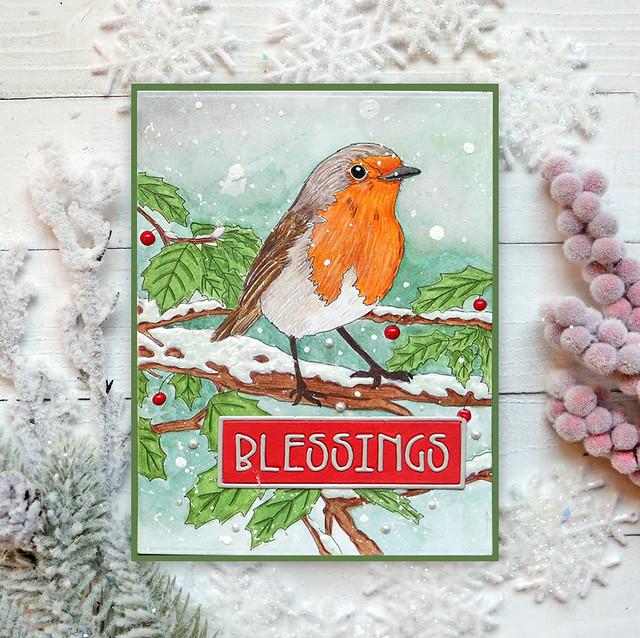 Winter Bird Colored 11