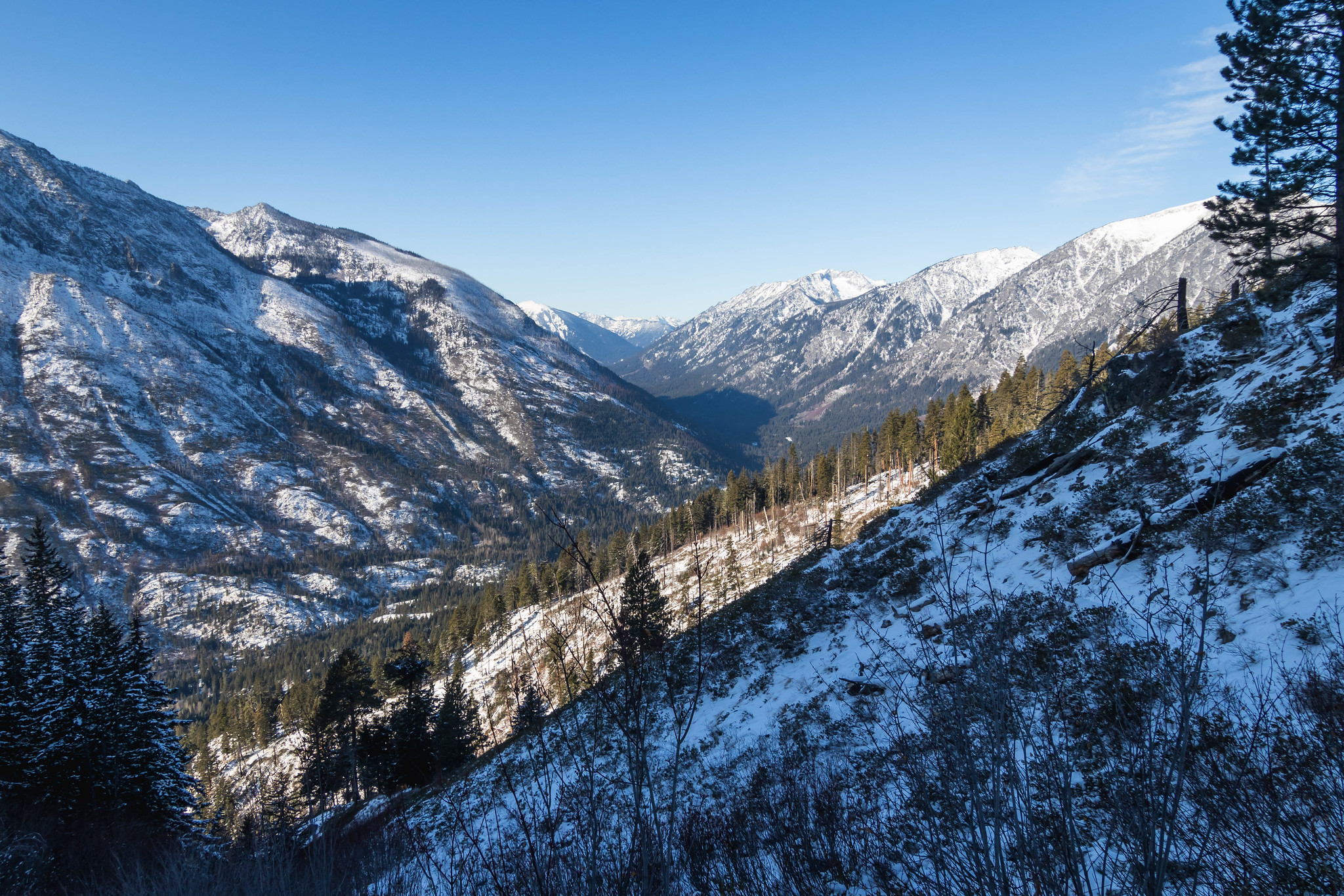 Icicle Creek Valley in full view