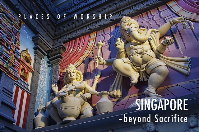 An Indian Temple near Ceylon Road,, East of Singapore