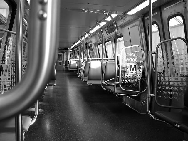 interior orange line metro rail dc