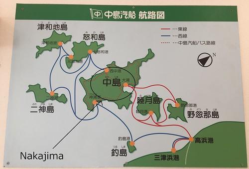 A map of the Nogutsuna Islands