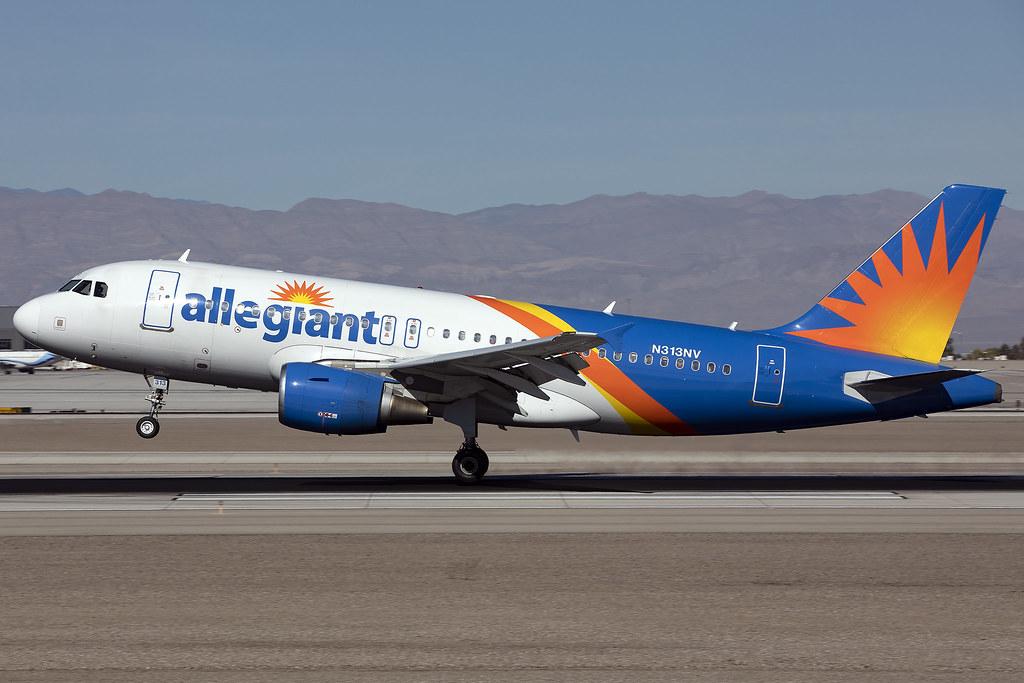 N313NV - Airbus A319-111 - Allegiant - KLAS - Dec 2019