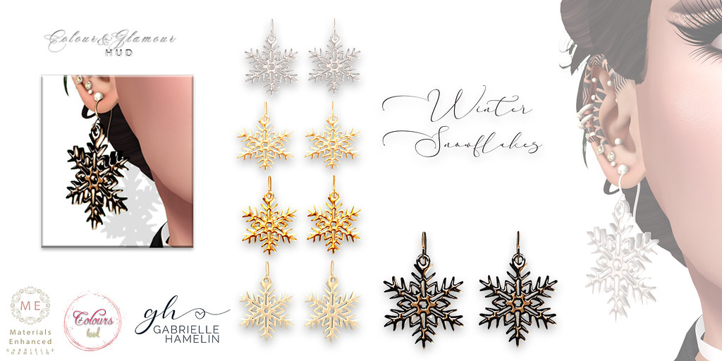 Winter Snowflake Earrings – Fatpack on Color Tinting HUD