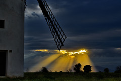Sunset with Temporary at the Mill ........, Atardecer con Temporal en el Molino........