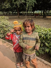 Garden workers children