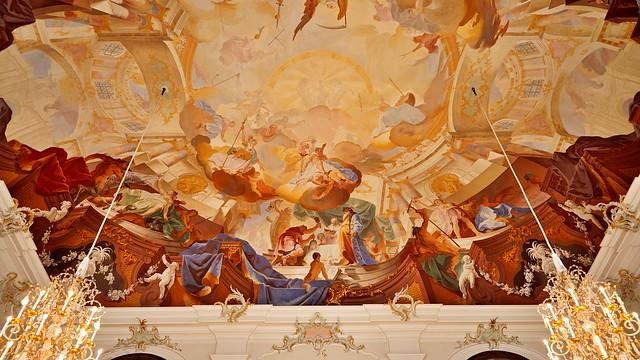 Decke Bruchsal Schloss Beletage Fürstensaal II