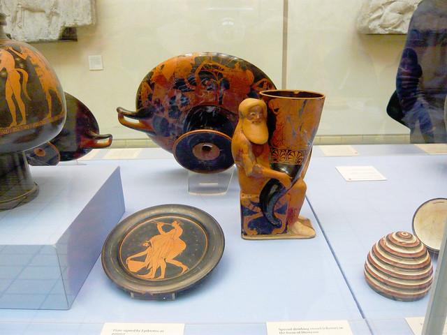 Plates and a rython from Ancient Greece / Древногръцки съдове