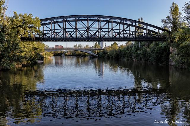 El río Pisuerga y sus puentes-Puente Colgante-Valladolid