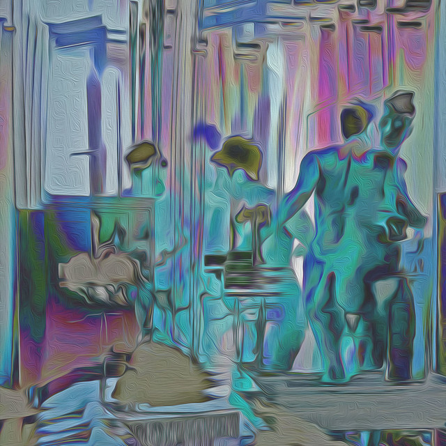 Bildschichten Frau im Hotelzimmer 03