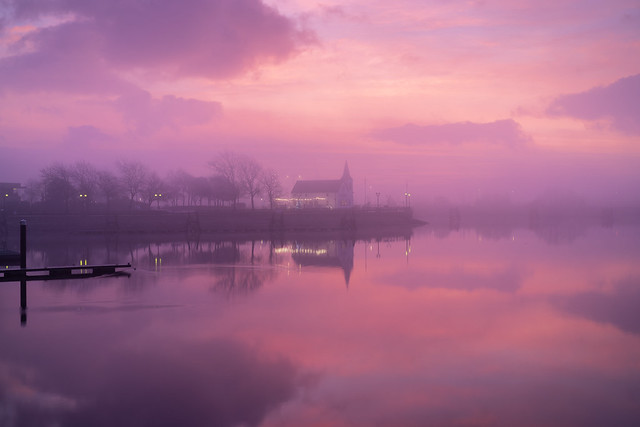 Cardiff Bay Pink Sunrise 05DEC19