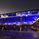Festive looking Preston Market canopy