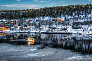 Icy waters and freezing conditions around Alta Harbor, Norway-47a