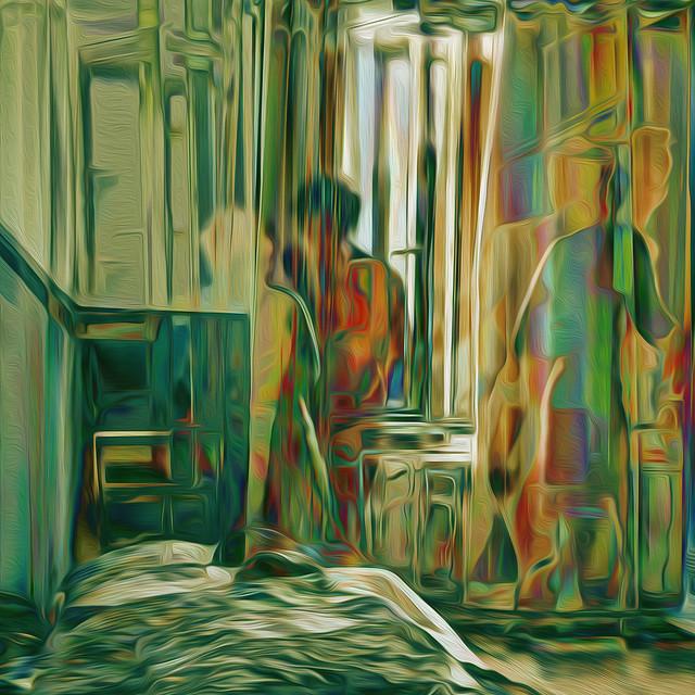 Bildschichten Frau im Hotelzimmer 11