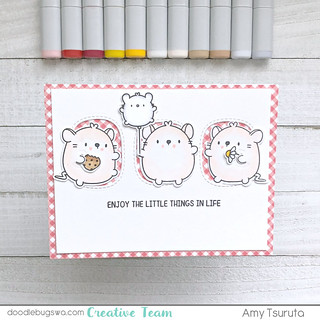 Little things gingham by Amy Tsuruta for Doodlebugswa.com