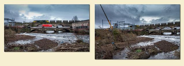 RHTT 'Satsumas' at Shirland Lane and Dewsbury class 70 at Norfolk Bridge - 5208/214+211