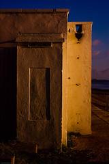 Toilet block at sundown