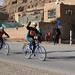 Afghan girls cycling competition in Bamyan.