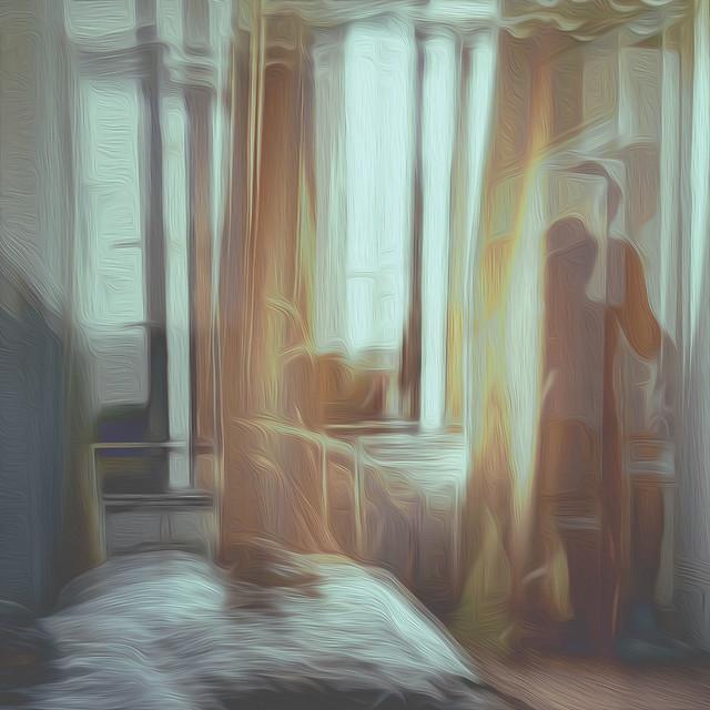 Bildschichten Frau im Hotelzimmer 04