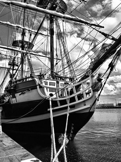 Saint-Malo, voilier.