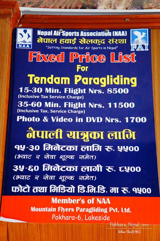 2014 Nepal Pokhara Tandem Paragliding