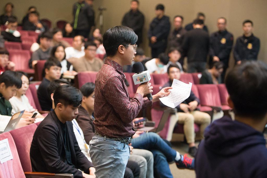 2020總統大選青年論壇,由多個青年團體提問,候選人抽題作答。圖片來源:台灣青年民主協會。