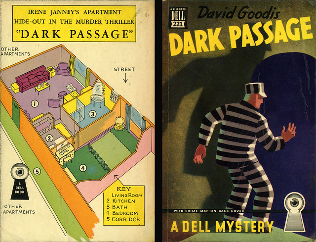 Dell Books 221 - David Goodis - Dark Passage (with mapback)