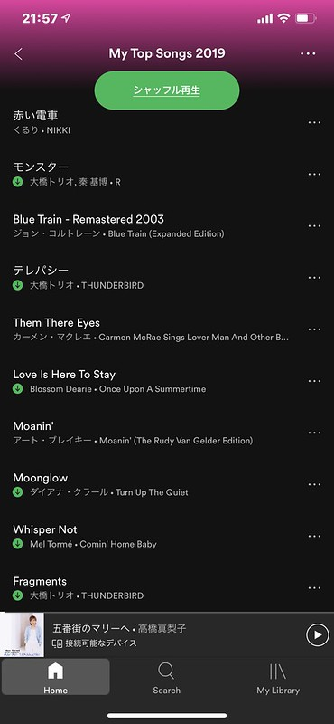 Spotify My Top Songs2019 Top10