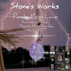 Moon Lamp Purple Glow Stone's Works