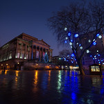 Festive looking Preston City Centre