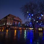 Festive looking Preston City Centre