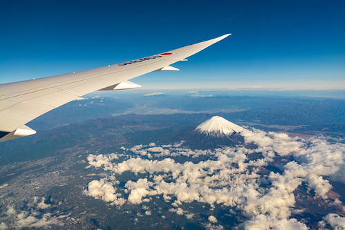 Mount Fuji with wing