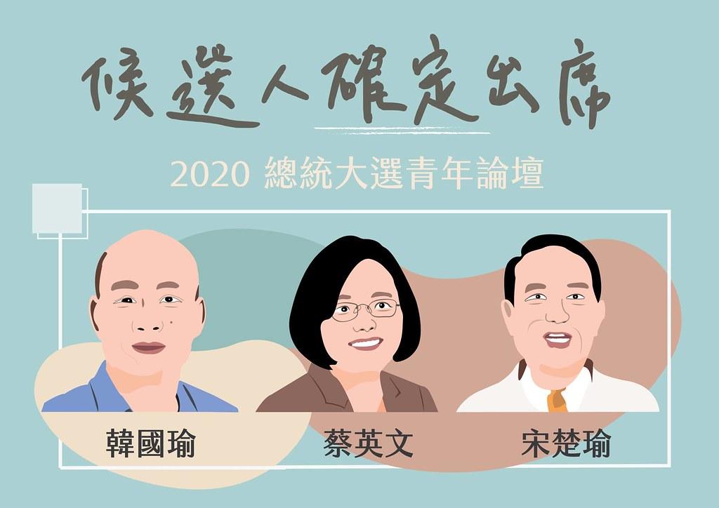 台灣青年民主協會舉辦「2020總統大選論壇」。圖片來源:台灣青年民主協會