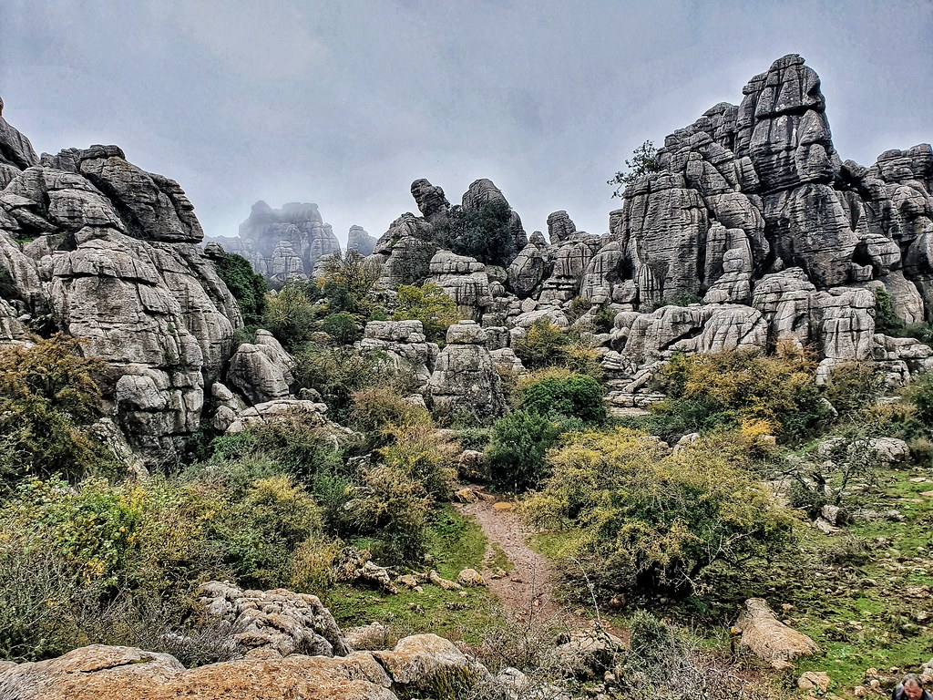 A panorama of the rock formations