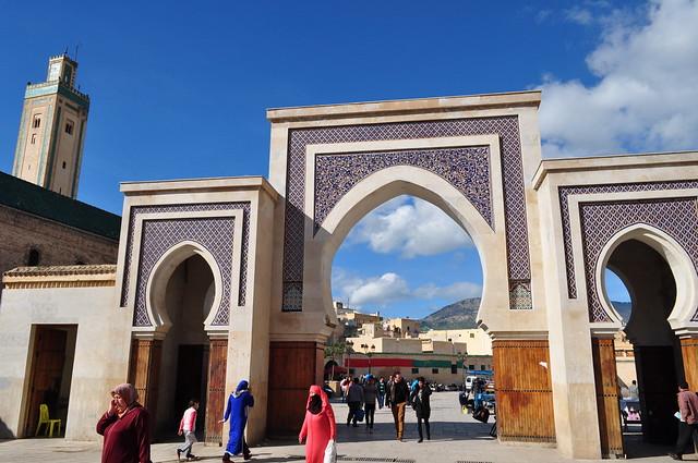 Place Bab R'cif, médina de Fès el Bali, Fès, Maroc.
