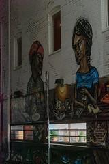 Laneway Mural at Night